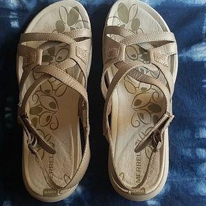 Merrell silver sandals